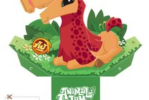 Fun Foldables! / Check out these cool Hollow Face Foldables featuring Animal Jam avatars! Print out and fold to discover an amazing optical illusion with your favorite creature!  / by Animal Jam