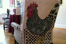Hand painted upholstery