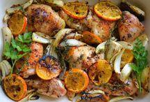 Kylling med clementine / Steget i ovnen