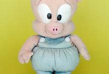LOONEY TOON Porky Pig & TINY TOON Hamton