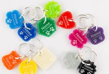 Pet Dog Cat ID Tags Personalised Wooden Acrylic