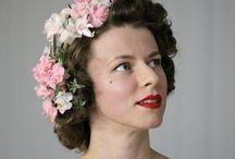 Hair / Hair, wreaths, hair-flowers bridesmaids brides, gorgeous things