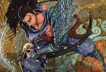 Yasuo Fan Art / Yasuo için hazırlanmış fan çalışmaları, ilgi çekici görseller ve çizimler.