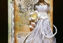 My mixed media  and scrapbooking cards / mixed media cards, scrapbooking, vintage, art