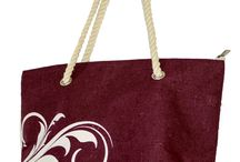 Totes / Jute and Cotton Fabric Tote bags