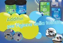 Monochem italia / Prodotti per igiene delle acque del wc e delle acque grigie di camper e caravan