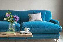 Velvet sofa's
