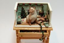 Miniatures / miniature desserts, doll house items / by Carrie