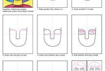 Postup kresby (obličej, postava, zvířata)