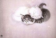Китайская живопись, кошки Сюй Синьци / Chinese painting, cats Xu Xin