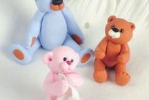 polymer clay teddy bears