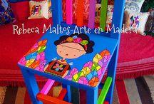 sillitas pintadas