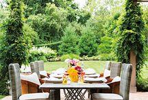 Pergola outdoor dining