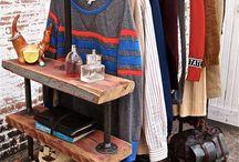 Organização de roupas.