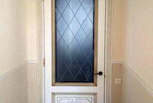 ajtó / ajtó üveg díszítés