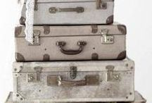 Koffers, manden en dozen/suitcases, baskets, boxes / by Edith Immeker