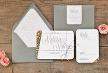 Dandelion Willows - Glitter Romance / Glitter Romance Stationery Suite by Dandelion Willows Invitations + Stationery                  Photo Credit: Royce Sihlis Photography