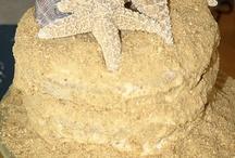 Beach sand cakes