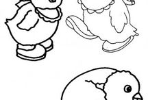 Chick coloring book / Chick coloring pages