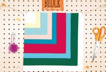Quilt Now BOM / Our new Block of the month quilt started in Issue 14. We're using the Emily Cier Kona solids bundle for our solids version of the quilt. Each month Reene Witchard is making a mini-quilt using prints to give you another take on the block. We love to see you joining in! #quiltnowbom