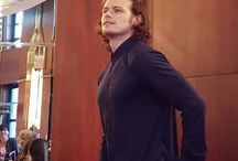 Sam Heughan 2015/2016 / Actor Sam Heughan Outlander Dragonfly in Amber