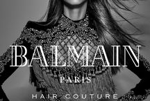 Balmain Hair Couture Fall Winter 2016 Campaign / Balmain Paris Hair Couture presents the Fall-Winter 2016 Campaign starring Noemie Lenoir and shot by Jean-Baptiste Mondino.   Balmain Hair Creative Director Nabil Harlow created strong looks amplified by the movement of the hair, working with plain length, fabrics and textures.  The Fall-Winter 2016 Campaign is about expressing a mix of emotion and movement.