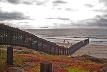 THE BORDER / US Mexico Border has the longest separation barrier in the world. Built to keep illegal immigrants and illicit drugs out of the US. / by Love Thy Neighbor Mexico