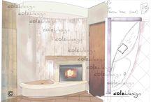 Дизайн проекты каминов