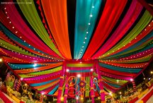 wedding south indian decoration / Cloth drapes