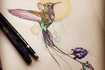 Τατουάζ με κολιμπρί