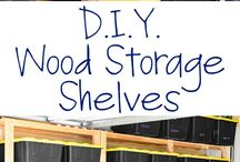 How to Make Wood Storage Shelves / SAVE MONEY AND MAKE YOUR OWN STORAGE .IT WILL BE BETTER QUALITY TOO.