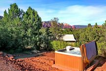 Sedona Vacation Home: USONIA / A beautiful Sedona vacation getaway, Usonia offers accommodations for up to six. An ideal place for a private, romantic rendevous, family vacation, girls retreat or bikers rest stop. Usonia has three bedrooms and three baths. Call 800-279-1945 for rates and dates. www.redrockrealty.net  See You Soon!