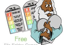 Bible - OT - 6.2 Moses - 10 Commandments / Visuals, activities, games and crafts for teaching children about the 10 commandments