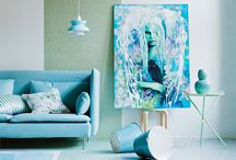 Mint and turquoise / Mint and turquoise decor ideas.