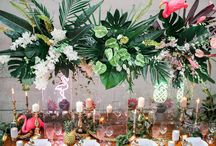 Tropical stylish wedding