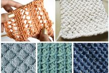 Knitting stiches, patterns ...