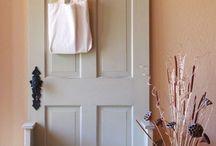 using old doors