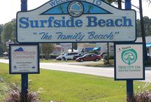 Surfside Beach, SC / A charming community of a mere two miles long, Surfside Beach, SC (the next town south of Myrtle Beach, SC) is filled with rows of lovely pastel beach houses, modern hotels, condos, trendy restaurants, a fishing pier and much, much more! For more info and to start planning your vacation or getaway go to http://www.visitmyrtlebeach.com/plan/