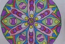 Mandala / mandaly vybarvené, mandaly vlastní