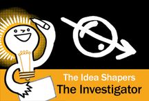 The Idea Shapers: The Investigator / In her 2016 book The Idea Shapers, Brandy Agerbeck makes visual thinking attainable and enjoyable through a set of 24 Idea Shapers. The Investigator is the first visual thinking concept in the fifth and final step, GRASP.