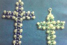Croce con perline