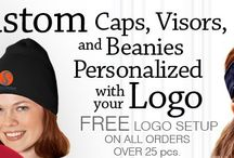 Custom Embroidered Hats, Logo Caps, Visors and Beanies / Call 1-877-304-1899 to talk to our embroidery experts at EZ Corporate Clothing for personalized, logo embroidered custom corporate hats and visors plus knit beanies, baseball caps, golf hats and more for your company, event, team or school! We carry a huge selection of logo hats and baseball caps  http://www.ezcorporateclothing.com/pages/embroidered-hats