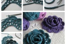 crochet/knitted flowers
