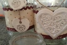 Up-Cycling / Always finding things to up-cycle in my home ... find something lying around turn it into something pretty!