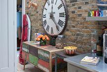 Industrial clocks... / by Maureen