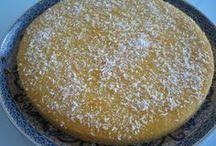 Cake, griesmeel, amandel