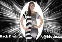 Black & white @Modezza / Heb je onze zwart-wit kleding al gezien? Een prachtige collectie waarin we zwart, wit én kleur combinerne!