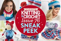 Issue 76 of LGC Knitting & Crochet magazine / Issue 76 of LGC Knitting & Crochet magazine, on sale from 6th November to 17th December 2015, comes with six balls of exclusive Glacier yarn. Your wintry yarn colour pack also comes with a 3.5mm crochet hook and bamboo knitting needles, plus a bonus showcase button to finish off your projects in style. This issue we've got cute toys, cosy accessories and last-minute stocking fillers for you to try – don't miss out!