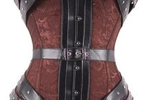 Women's Steampunk Overbust Corsets / The amount of versatility that can be found with a womens steampunk overbust corset is a necessity for any steampunk lass. Our extraordinary collection includes designs such as halter corsets, leather corsets, embroidered corsets, belted corsets, gear print corsets, sweet heat corsets, rose print corsets, waist training corsets, buckles corsets, brocade corsets, and much more. You will most surely find a Neo-Victorian overbust corset that will suit any steampunk cosplay or endeavor.