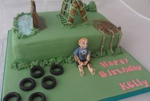 Obstacle/camouflage cake